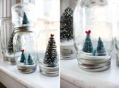 kugel schnee einweckglas weihnachten diy projekt