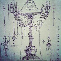 Technical drawing. Harry Potter Tour, Warner Bros Studios
