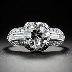 1.63 Carat Diamond Art Deco Engagement Ring | diamanten-haeger.de