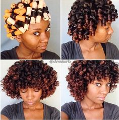 shows us how it's done with orange perm rods. Do you have a favorite perm rod color to use when styling? by unclefunkysdaughter Big Curly Hair, Curly Hair Styles, Summer Hairstyles, Cool Hairstyles, Relaxed Hairstyles, Hairstyle Ideas, Natural Hair Care, Natural Hair Styles, Synthetic Curly Hair