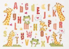 free printable giraffe cross stitch pattern | giraffe cross stitch sampler pattern