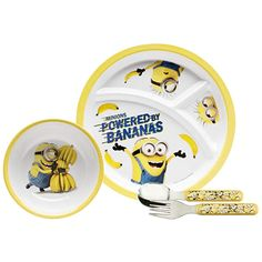 2 Plates Break-resistant and BPA-free Plastic Zak Designs 3-Section Plate featuring Olaf /& Sven from Frozen
