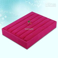 Wholesale ES0179 Velvet Ring Jewelry Display Tray Holder Case Hot Pink, Free shipping, $9.74/Piece | DHgate Mobile
