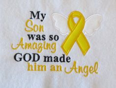 My Son Was Amazing God Made Him An Angel  by LMTEmbroideryDesigns
