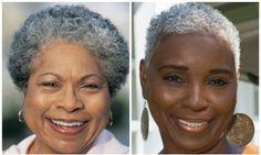Você imaginou como vai ficar quando estiver mais velhinha? E os cabelos brancos? Os cachinhos estarão firmes e fortes todos branquinhos?