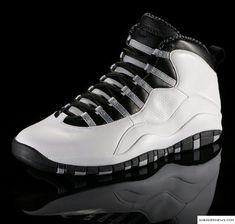 sports shoes fb2d4 dee56 Air Jordan Retro X 10 White black colorway Retro Sneakers, Sneakers Nike,  Nike