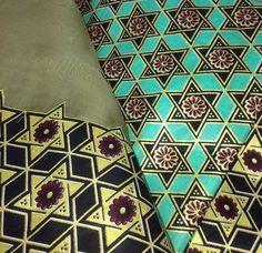 Four Branches custom chuppah. Detail shot of Nigerian fabric used for chuppah.