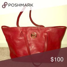 1af8825894f0 authentic red Michael Kors tote bag A little worn on the inside but still  in pretty