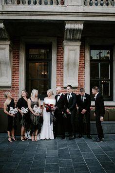 Super Black And White Bridal Party Attire Ideas Bridal Shower Prizes, Tea Party Bridal Shower, Bridal Shower Rustic, Mexican Bridal Showers, Blush Bridal Showers, Black Tie Wedding, Burgundy Wedding, Black Weddings, Perth
