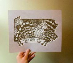 PA 'ruffled grouse' print! cute! State LOVE!