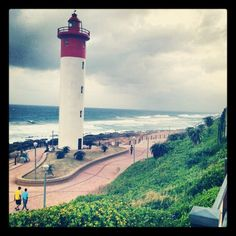 Umhlanga Lighthouse, we love walks along the promenade. Durban South Africa, Pretoria, Hampers, Lighthouses, All Over The World, Cn Tower, Walks, Places Ive Been, Roots