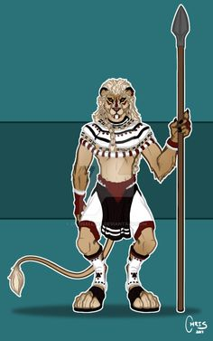 Wanted to create a lion warrior, so I went with a bit more South African colours