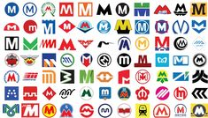 How 77 Metro Agencies Design the Letter 'M' for Their Transit Logo - CityLab
