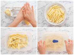 Here's how to homemade chips Slimming World friendly, and in the oven or air fryer chips. The same applies to chunky chips or skinny fries. I'll also show you my quick microwave hack to halve the cooking time. #synfree #sw Microwave Chips, Microwave Bowls, Easy Chips Recipes, Dirty Fries Recipe, Air Fryer Chips, Chunky Chips, Fried Chips, Low Carb Chips, Homemade Chips