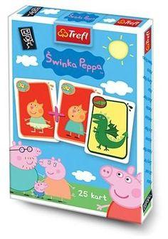 Dětské karty TREFL, Černý Petr - Prasátko Pepina, Karetní hra, pexeso