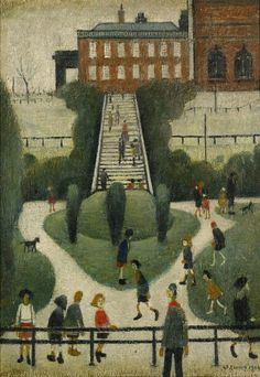 PEEL PARK, SALFORD, signed and dated 1944. An oil on canvas est: £400,000 - 600,000