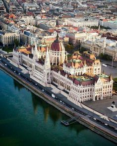 """""""A Buda-ful view over Budapest."""" Want to see intricate architecture like this up close? Head to the link in our bio for a complete guide to Hungary's capital. Drone photo and sweet pun by Beautiful Places To Travel, Most Beautiful Cities, Wonderful Places, Places Around The World, Around The Worlds, Wachau Valley, Budapest Travel Guide, Belle Villa, Prison"""