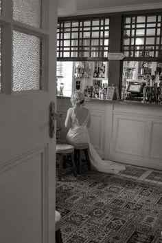 Lou waiting patiently #bride #wedding #romantic #vintage