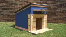 18 Super Cute Outdoor Dog House Ideas that your Pet will Absolutely Adore - Homebnc.site - Beautiful and Creative Home Design and Decor Ideas Build A Dog House, Dog House Plans, Build Your Own Shed, Villa Plan, Homemade Dog House, Winter Dog House, Octagon Picnic Table, Modern Dog Houses, House Ideas