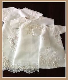 burial gowns for preemies made from my own wedding dress...
