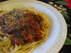 vegan pasta meat sauce