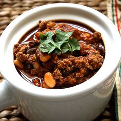 Smoky Turkey Chili Recipe with Chipotle Peppers, & Black & White Beans