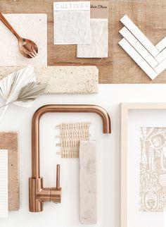 Mood Board Interior, Square Kitchen, Material Board, Style Deco, Home And Deco, Home Reno, Home Living, Colour Schemes, Interiores Design