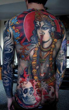 godess-kali-tattoo-on-back. 410 x 580 ( Kali Tattoo, Backpiece Tattoo, Ganesha Tattoo, Tattoo Henna, Lotus Tattoo, Tattoo Ink, Samoan Tattoo, Polynesian Tattoos, Medusa Tattoo