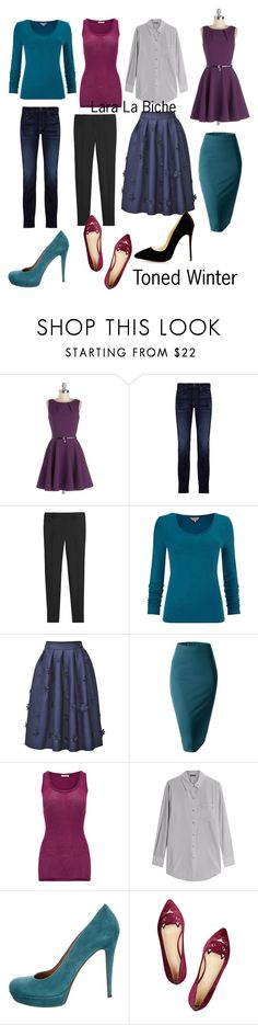 """Toned Winter mini capsule"" by laralabiche ❤ liked on Polyvore featuring Closet, J Brand, White House Black Market, Phase Eight, Doublju, American Vintage, DKNY, Gucci and Charlotte Olympia"