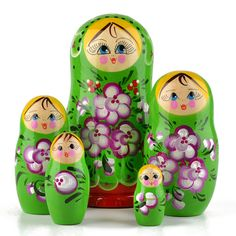Green Russian Nesting Doll