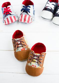 no 682 Kaley Baby Sneakers PDF Pattern with FREE Patterns | ithinksew - on ArtFire