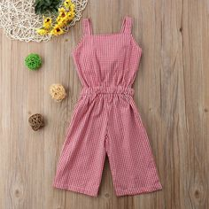 Toddler Girl Bow Plaid Jumpsuit – The Trendy Toddlers Baby Outfits, Kids Outfits, Baby Girl Fashion, Toddler Fashion, Kids Fashion, Fashion Clothes, Fashion Dolls, Kids Clothes Patterns, Jumpsuits For Girls
