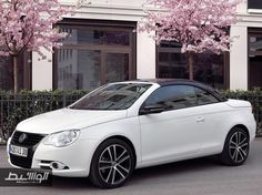 Hans Gruber, Your Ride Is Here: Volkswagen rolls out White Night Eos special edition Hans Gruber, Convertible, Vw Eos, Roof Paint, Mercury Sable, Contrast Lighting, Car Volkswagen, In And Out Movie, Acura Nsx