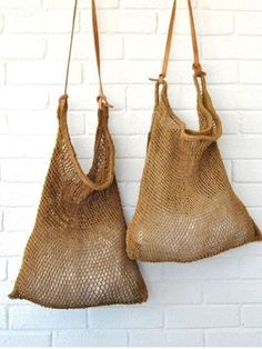"""New Cheap Bags. The location where building and construction meets style, beaded crochet is the act of using beads to decorate crocheted products. """"Crochet"""" is derived fro Mochila Crochet, Crochet Bags, Knitted Bags, My Bags, Purses And Bags, Fashion Bags, Fashion Accessories, Net Bag, String Bag"""