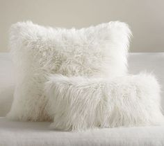 Mongolian Faux Fur Pillow Cover - Ivory | Pottery Barn