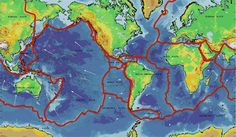 Earth Plate Tectonics... Read this page and then click on the link to This Dynamic Planet... Great maps showing the relationship of earthquakes, volcanoes and plate boundaries...