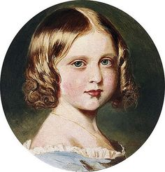 portrait of Princess Louise, daughter of Queen Victoria, painted by the Queen, 1851