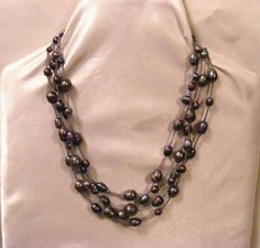 TAHITIAN Grey Freshwater PEARLS NECKLACE