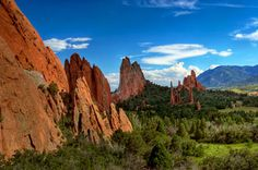 Garden of the Gods. Colorado.  (not a dream vacation because I've been there!)