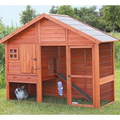 TRIXIE's Rabbit Hutch with Gabled Roof is ideal for groups of small animals such as rabbits and guinea pigs. The unique gabled roof and upstairs window make a charming addition to any landscape. Plus the door in the gable provides easy access to the attic for storage or additional insulation. The spacious two-story design has a retreat area on the upper level. It has a both a hatch and levered sliding door that gives owners the option to restrict access between levels, even while standing…