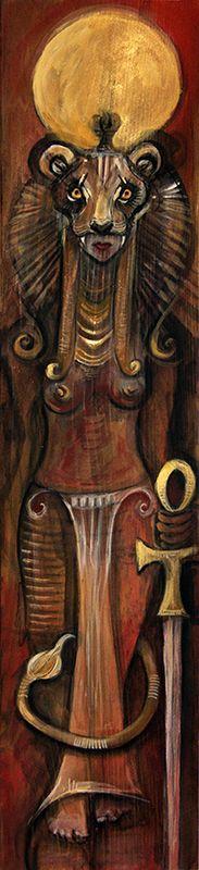 Sekhmet: Owlkeyme Arts | Archetype| Art by Laura Tempest Zakroff