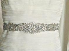 LAST ONE  1 Beaded Bridal Sash Art Deco Wedding by LiveAdorned, $175.00