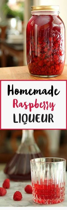 Enjoy this delicious homemade raspberry liqueur. #Vodka, sugar, and fruit? What more could you want. Try out some new #cocktails or just sip this #raspberry treat in a chilled glass.