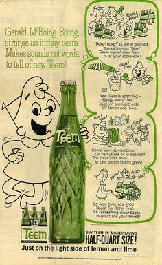 """My family had a friend who had a soda refrigerator in his den. When we went there he would get bottled soda out for each of us. I remember asking for Teem. """") I thought that frig in the den was about the coolest thing I had ever seen."""
