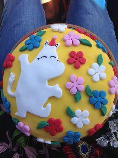 Moomin birthday cake for my daughter's second birthday