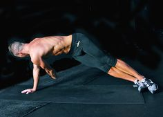 Staying in your high side plank, reach the top arm to the sky again. Keeping the hips in position, thread the arm through and under the body reaching for the wall behind you as you exhale and contract your center. Extend back to the top and repeat for 15 to 20 reps per side  Read more: http://www.livestrong.com/blog/get-six-pack-abs-zero-sit-ups#ixzz3IleqUs2K Photos by Benjamin Patterson