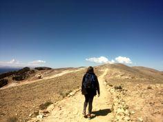 Foto mia en Isla del Sol, Bolivia.