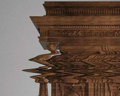 Not a Glitch: Cabinet Carved with Disorienting Design
