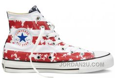 78740b64cb44 2013 Converse American Flag High Tops Red White Blue Chuck Taylor All Star  Canvas Shoes Discount