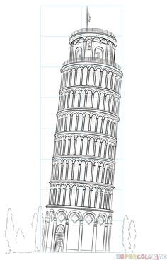 How To Draw The Leaning Tower Of Pisa Step By Step Drawing Tutorials For Kids And Architecture Drawing Sketchbooks Drawing Tutorials For Kids Drawing Tutorial